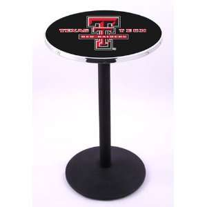 Texas Tech University Pub Table With Chrome Edge Sports
