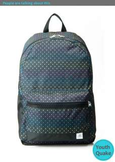 BP Backpack Bookbag in Black with Blue Pink Yellow Star W27512