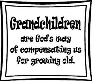 Grandchildren Wall Words Stickers Vinyl Decal Quote