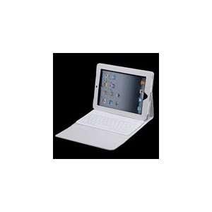 Wireless Bluetooth Keyboard & Case for Ipad 2   White Electronics
