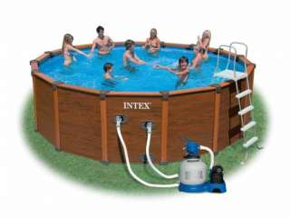 INTEX Wood Grain Frame Pool Schwimmbecken 508 x 124