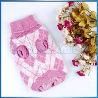 Dog Puppy Pet Knit Turtleneck Sweater Clothing Apparel