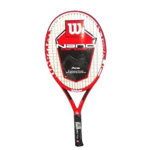 Wilson Nano Carbon Ace Tennis Racket with Explosive Power