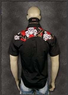 Skull & Roses ★ Cowboy Western Herren Hemd Outfit Shirt Wear M L