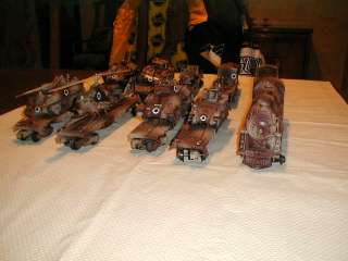 CUSTOM PAINTED O GUAGE SET   DONE AS ISRAELI WAR TRAIN (SPECIAL PRICE
