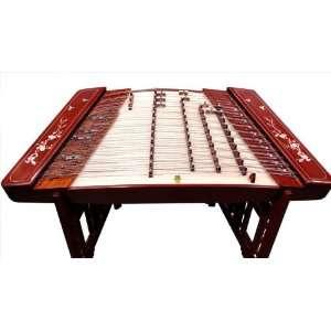 Cherry Blossom Decorated Yang Qin Dulcimer 402k Musical Instruments
