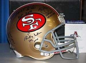 Sanders, and Jackson Autographed F/S San Francisco 49ers Helmet