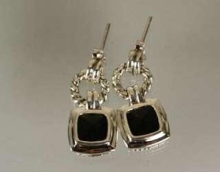David Yurman 925 Sterling Silver Onyx Earrings