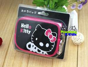 Cute Hello Kitty Digital Camera Case Coin Pouch Black