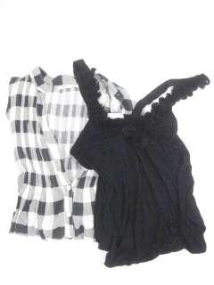 LOT 2 KIMCHI & BLUE Black White Tops Shirts Sz M L