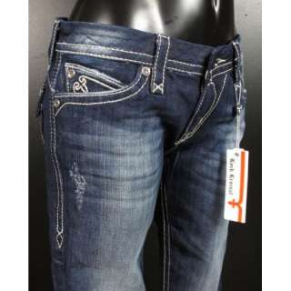 REVIVAL Boot Cut Jeans SASHA B14 RJ8207 With Silver Sequence