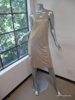 Stella McCartney Champagne Shimmer Pocket Dress 40