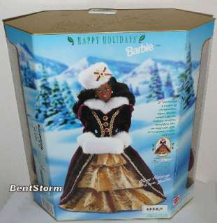 Sophisticated & Glamorous HAPPY HOLIDAYS African American (RARE