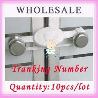 10P new Baby Safety Cabinet Lock child Door Lock Safety 1st white