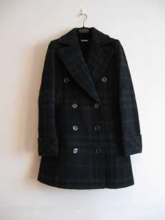 BURBERRY LONDON JAPAN NOVA CHECK DOUBLE BREASTED COAT Size 36