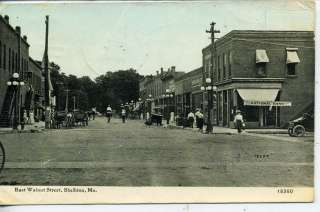MISSOURI DOWNTOWN STREET SCENE NATIONAL BANK ANTIQUE VINTAGE POSTCARD