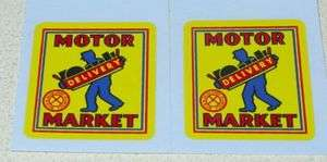 Marx Motor Market Delivery Truck Decal Set MX 023