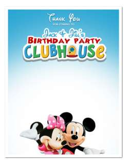 MICKEY MINNIE MOUSE Birthday THANK YOU NOTES