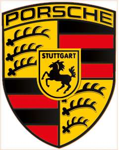 Porsche Logo Sports Luxury Car Vinyl Decal Sticker Laminated   5.75 x