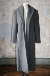 Nicole Miller Alpaca & Wool Dark Gray Long Walking Coat SZ 12