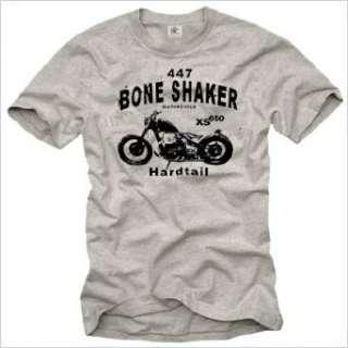 Biker T Shirt für Herren BOBBER XS 650 Motorrad grau Größe S XXXL