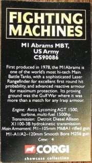 Corgi Diecast US Army M1 Abrams MBT Tank CS90086 MINT