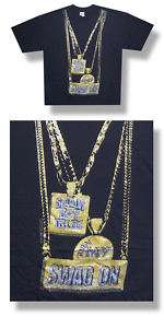 Soulja Boy  NEW Turn My Swag On Gold Chains T Shirt  2XLarge FREE