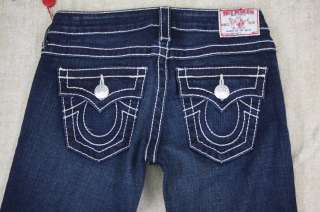 New True Religion Womens Jeans Joey Big T size 25 NWT Dark Pony