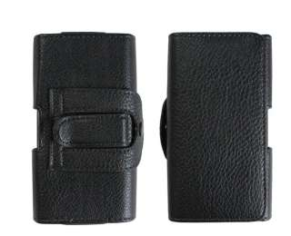Black Leather Case Belt Clip Pouch Cover for Samsung Galaxy S II i9100