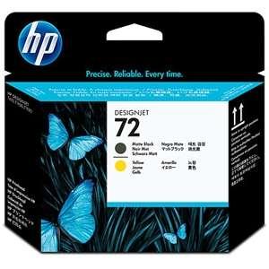 HP 72 C9384A Matte Black & Yellow Printhead
