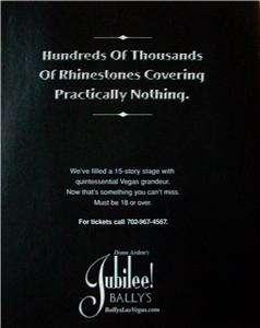 Jubilee @ Bally`s Las Vegas Casino Showgirl Ad