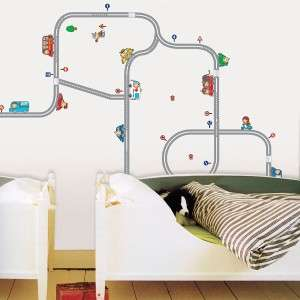 Car Track Removable Wall Sticker Wallpaper Art Decal Home Kids Room