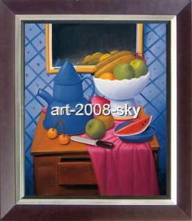 SALE OIL PAINTING REPRO OF FERNANDO BOTERO&DINING ROOM