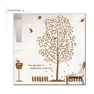 BIG TREE + BIRDS MODERN DECOR ART WALL STICKER REMOVABLE VINYL DECAL 5