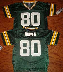 Green Bay Packers Donald Driver Youth Reebok Jersey NWT