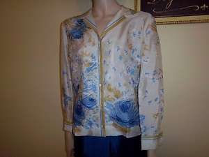 Vtg 60s Vera silk Blouse Shirt size 12 NEW