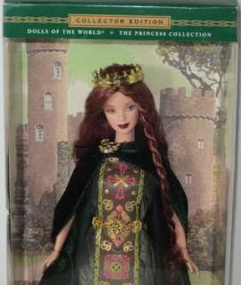 2001 Mattel BARBIE PRINCESS OF IRELAND RED HAIR Dolls of the World