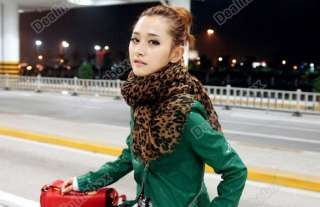 HOT Fashion Larger Animal Leopard Print Shawl Scarf Wrap Stole Brown