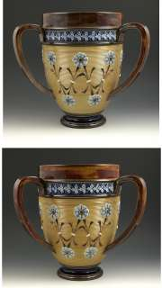 DOULTON LAMBETH THREE HANDLED STONEWARE FLORAL CUP