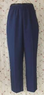 Womens Plus Sz 20W Navy Blue Dress Slacks Pants ALIA