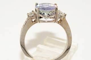 10000 4.78CT OVAL CUT AAA TANZANITE & DIAMOND RING VS SIZE 8
