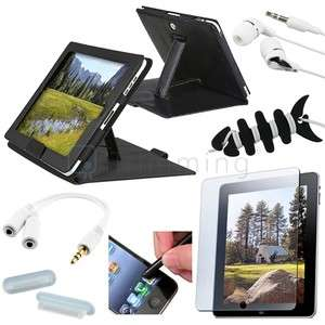 Accessory Bundle Leather Case Cover For Apple iPad 1