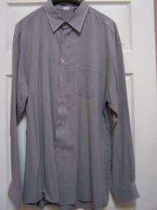 XXL MENs LONG SLEEVE GRAY DRESS SHIRT