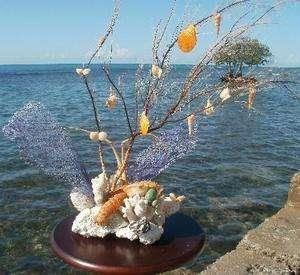 Designer Deco Centerpiece   Corals, SeaShells, Lobster & Crab
