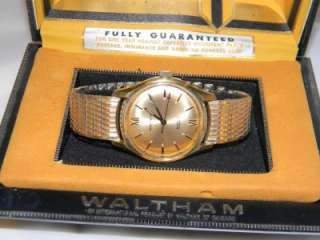 VINTAGE WALTHAM INCABLOC 17 JEWELS MEN 10K GF WRISTWATCH WATCH IN