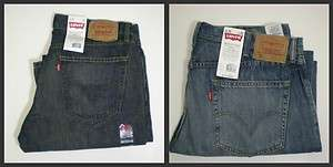New Levis 559 Mens Blue Denim Jeans Relaxed Fit Straight Leg 32 34 36