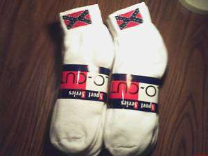 12 PAIR REBEL FLAG SOCKS SZ 10 13 ANKLE STYLE