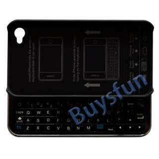 New BLACK Sliding Bluetooth Keyboard HARD CASE COVER FOR APPLE iPhone