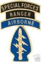 ARMY SPECIAL FORCES RANGER AIRBORNE MILITARY HAT PIN
