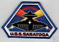 USS SARATOGA JACKET OR CAP PATCH